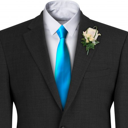 Turquoise Satin Wedding Tie