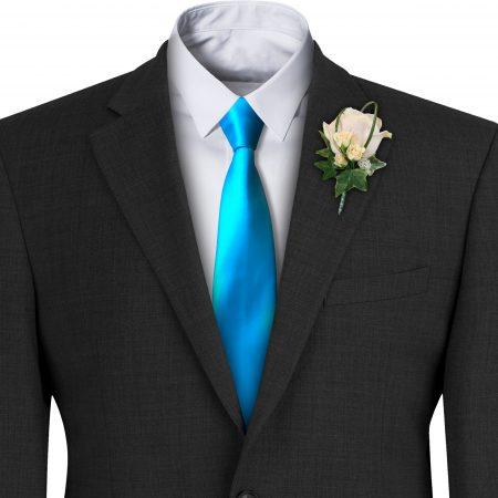 Turquoise Satin Wedding Tie