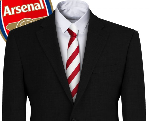 Arsenal FC Style Football Tie