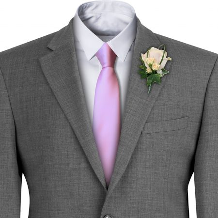Baby Pink Satin Wedding Tie
