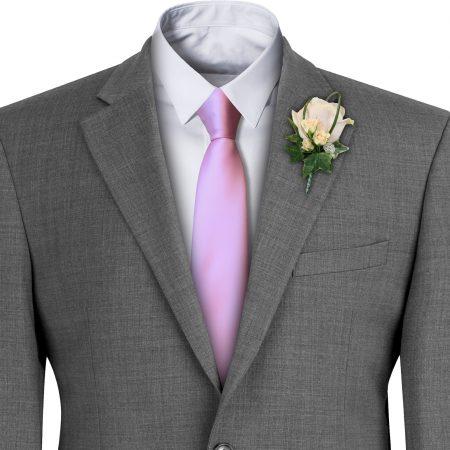 Baby Pink Satin Wedding Tie