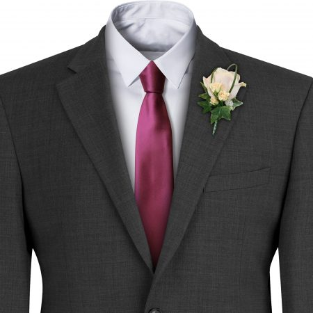 Burgundy Satin Wedding Tie