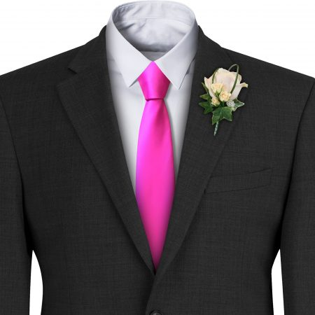 Cerise Satin Wedding Tie