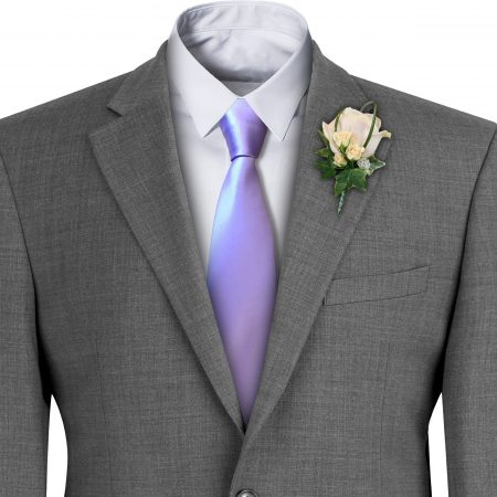 Lilac Satin Wedding Tie