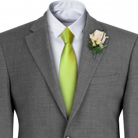 Lime Satin Wedding Tie