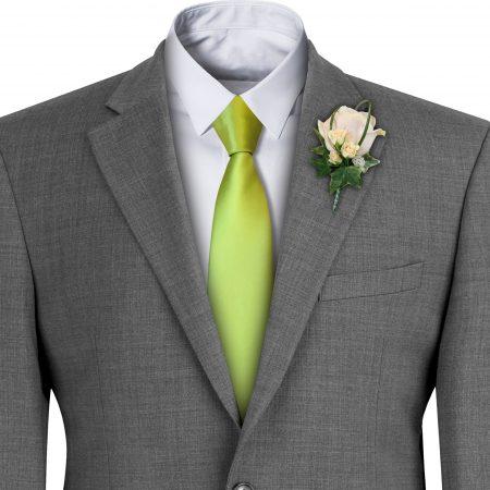 Lime Satin Wedding Tie