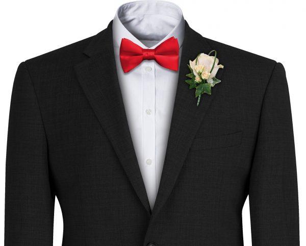 Red Satin Wedding Bow Tie
