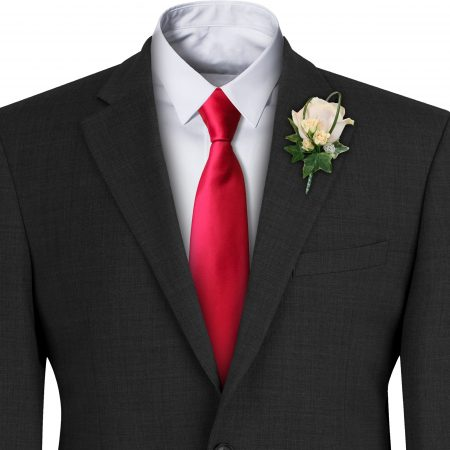 Red Satin Wedding Tie