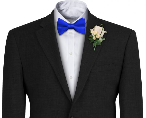 Royal Satin Wedding Bow Tie