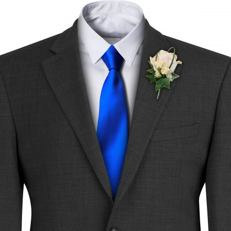 Royal Blue Satin Wedding Tie