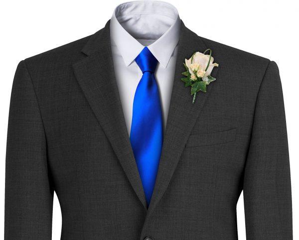 Royal Blue Satin Wedding Tie