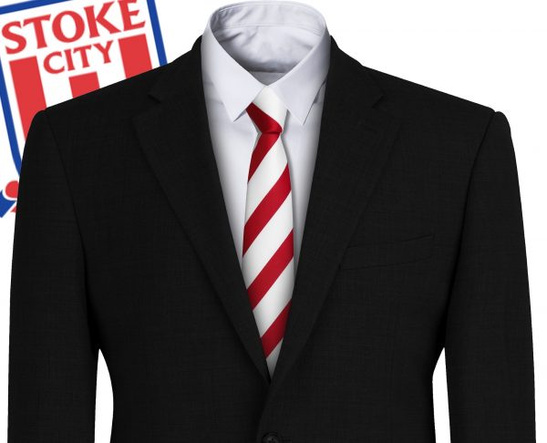 Stoke City FC Style Football Tie