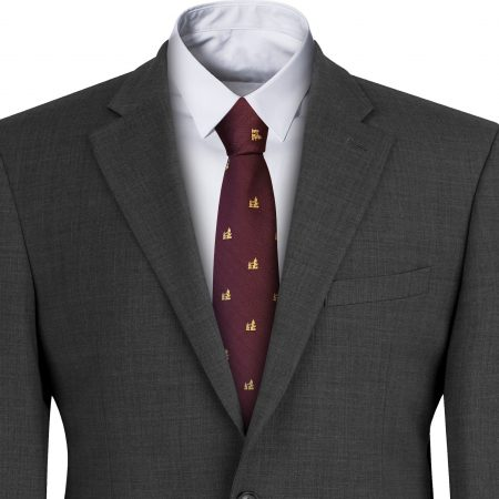 Tower Bridge Maroon Mens Tie