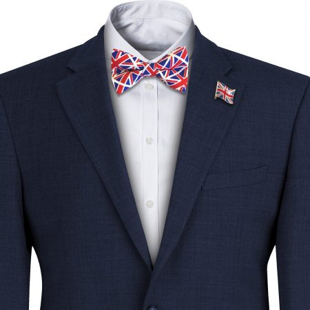 Union Jack Flag Mens Bow Tie