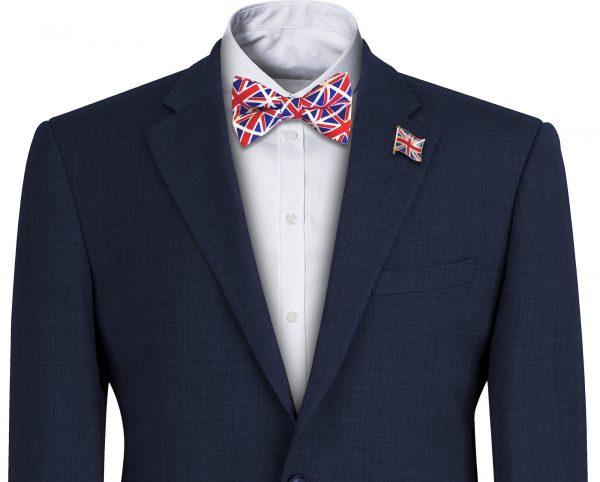 Union Jack Flag Mens Bow Tie