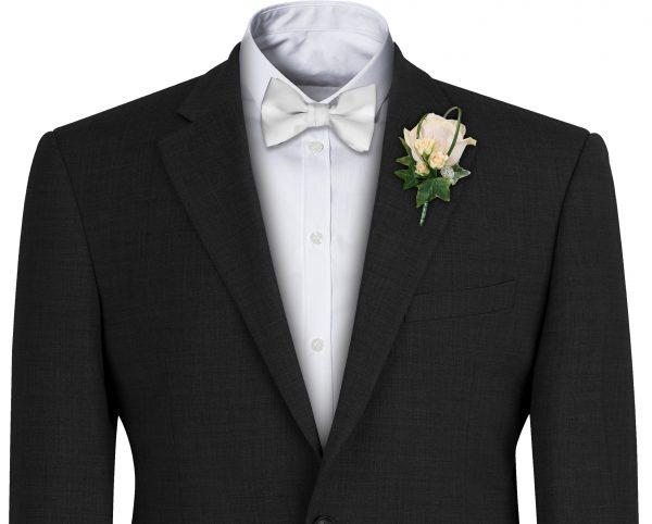 Pure White Satin Bow Tie